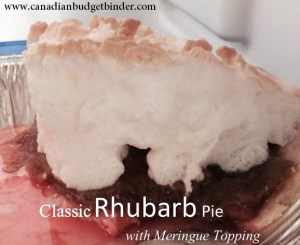 Classic Rhubarb Pie Topped with Meringue