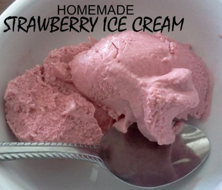homemade strawberry ice cream Pat