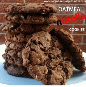 Oatmeal Nutella Cookies