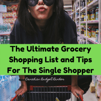 Grocery List Single Person