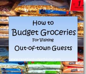 how to budget groceries for visiting out of town guests