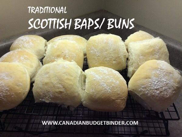 Traditional Scottish Baps or Buns
