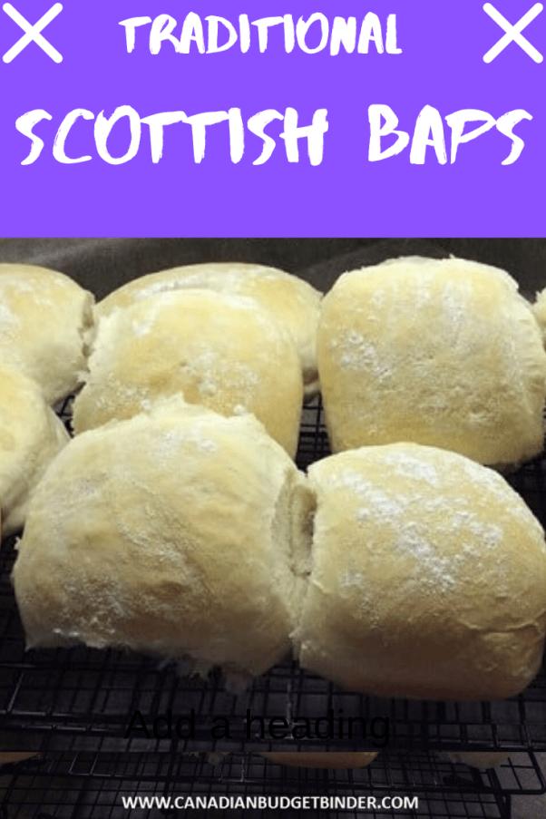 traditional scottish baps