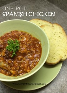 One Pot Spanish Chicken