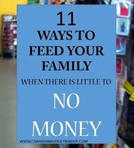 11 ways to feed your family with little to no money