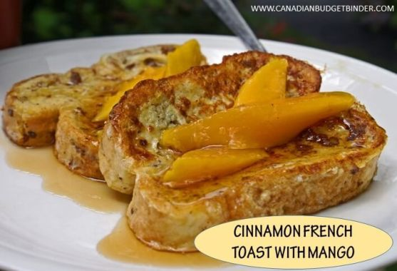CINNAMON FRENCH TOAST WITH MANGO