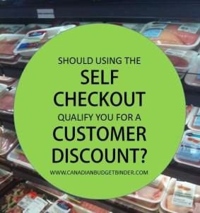 Should using the self checkout qualify you for a customer discount? – The Grocery Game Challenge #3 Sept 21-27, 2015