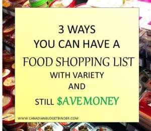 3 Ways You Can Have A Food Shopping List With Variety And Save Money : The Grocery Game Challenge #3 Nov 16-22, 2015