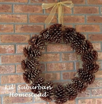 pine cone wreath craft idea