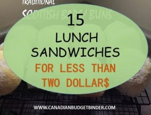 15 Easy Lunch Sandwiches For Less Than Two Dollars : The Grocery Game Challenge #3, Dec 21-27,2015