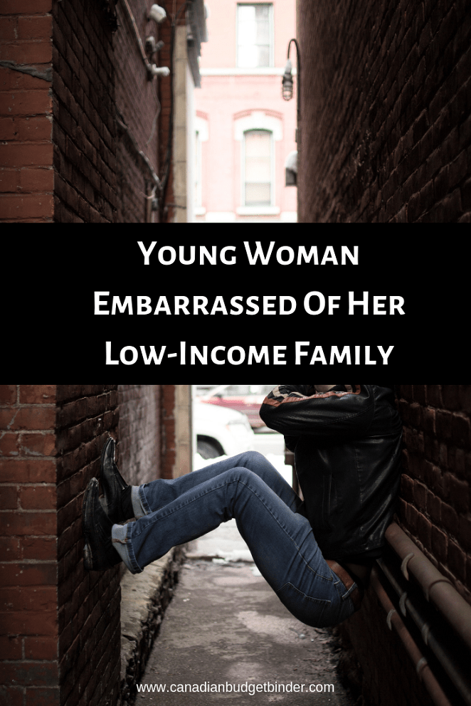 Young Woman Embarrassed Of Her Low-Income Family