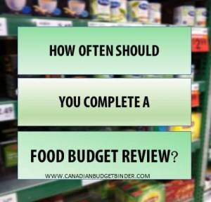 How often should you complete a food budget review? : The Grocery Game Challenge 2016 #3 Jan 18-24