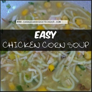 Last-minute Chicken Corn Soup