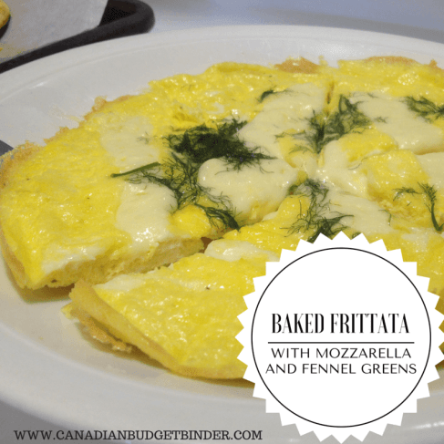 baked frittata with mozzarella and fennel greens(1)