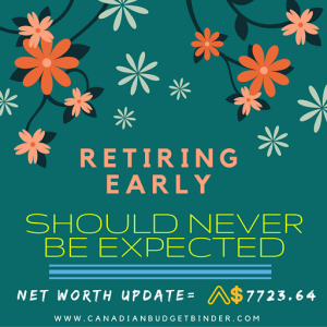 Retiring Early Should Never Be Expected  : April Net Worth Update (+0.97%)