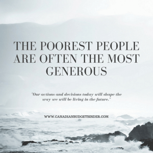 The Poorest People Are Often The Most Generous