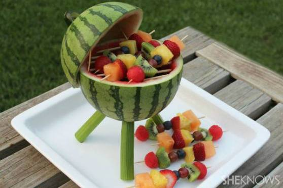 food art diy watermelon bbq grill