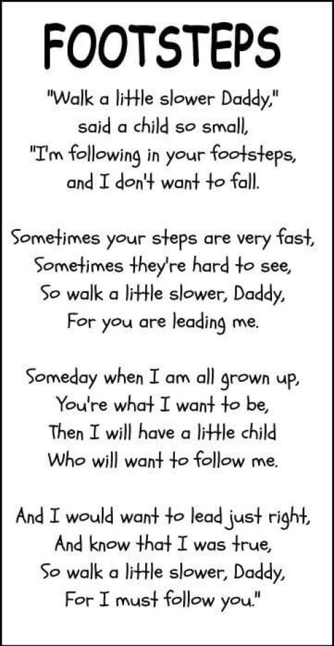footsteps Father's Day poem