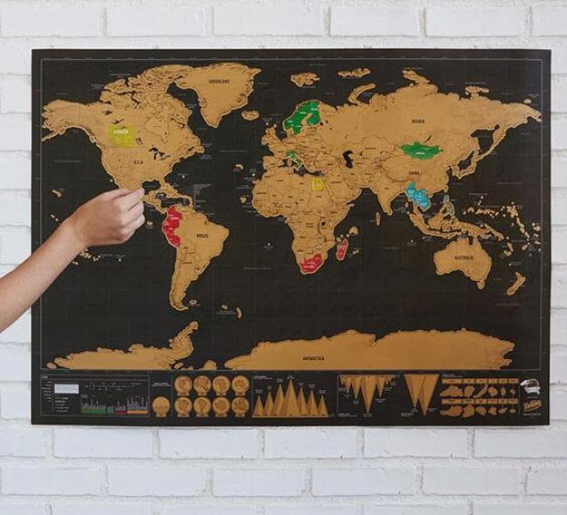 scratch map fathers day travelling dad