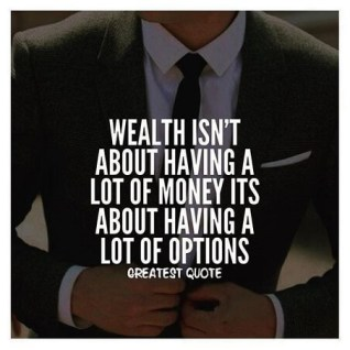 wealth as options