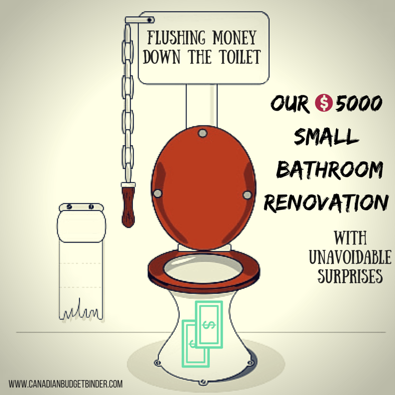 $5000 Small Bathroom Renovation With Unavoidable Surprises ...