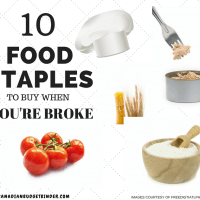 10 FOOD STAPLES TO BUY WHEN YOU'RE BROKE cover