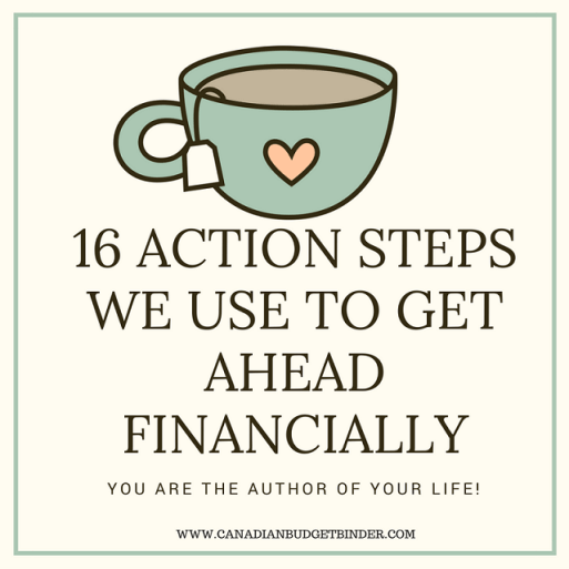 16 ACTION STEPS WE USE TO GET AHEAD FINANCIALLY cover 2