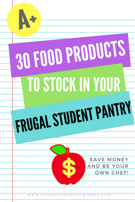 30 food products to stock in your student frugal pantry (1)