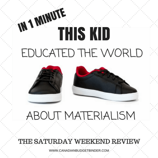 IN 1 MINUTE THIS KID EDUCATED THE WORLD ABOUT MATERIALISM