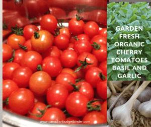 organic garlic tomatoes and basil