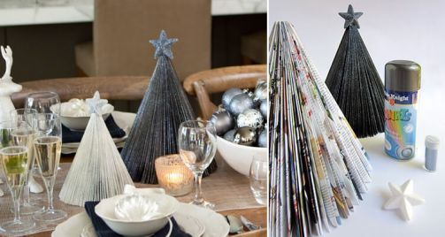 magazine-christmas-trees-diy-table-decor