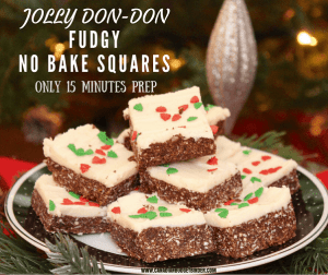 Jolly Don-Don Fudgy No Bake Squares