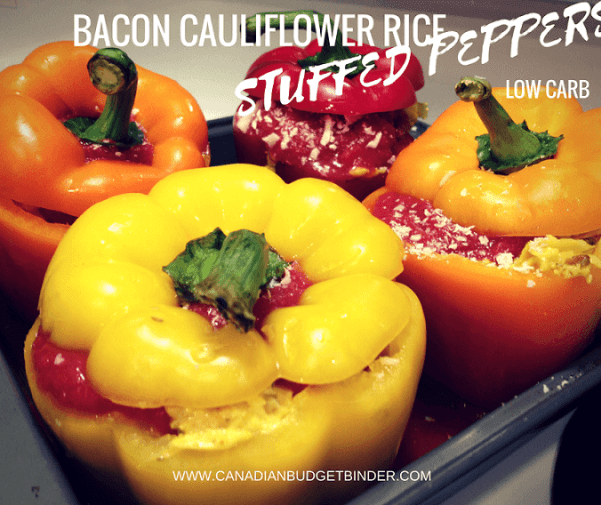 BACON CAULIFLOWER RICE STUFFED PEPPERS 3 FB