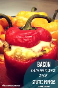 keto bacon cauliflower stuffed peppers