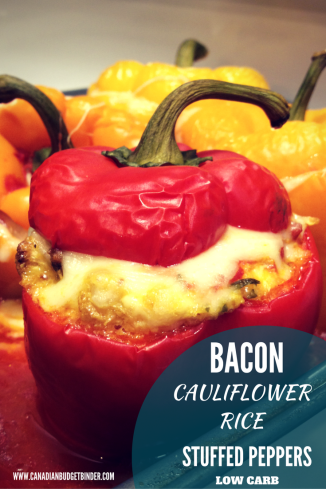 BACON CAULIFLOWER RICE STUFFED PEPPERS PINTEREST