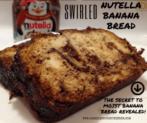 Swirled Nutella Banana Bread
