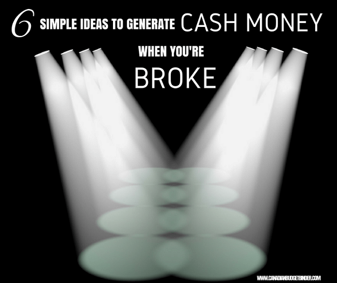 6 Simple Ideas To Generate Cash Money When You're Broke