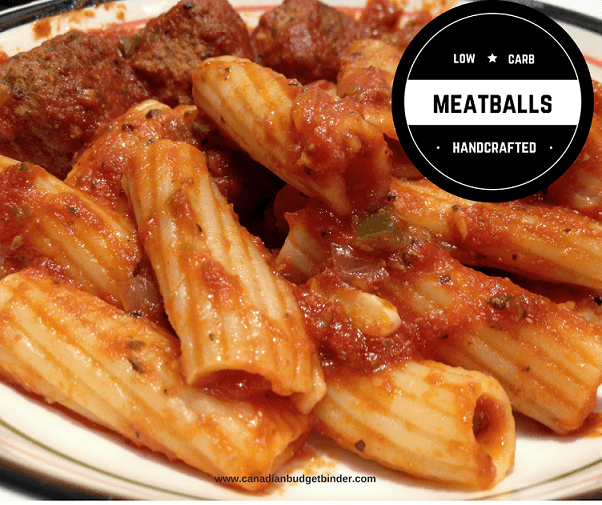 LOW CARB meatballs with rigatoni fb