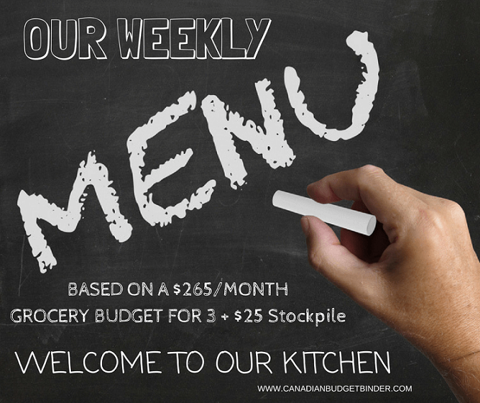 our weekly menu plan cbb