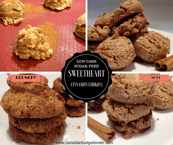 sweetheart cinnamon cookies photo collage