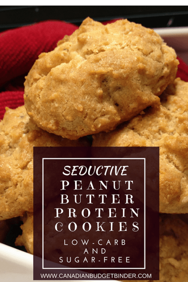 Keto PEANUT BUTTER PROTEIN COOKIES PINTEREST 2
