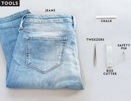 how to distress jeans at home