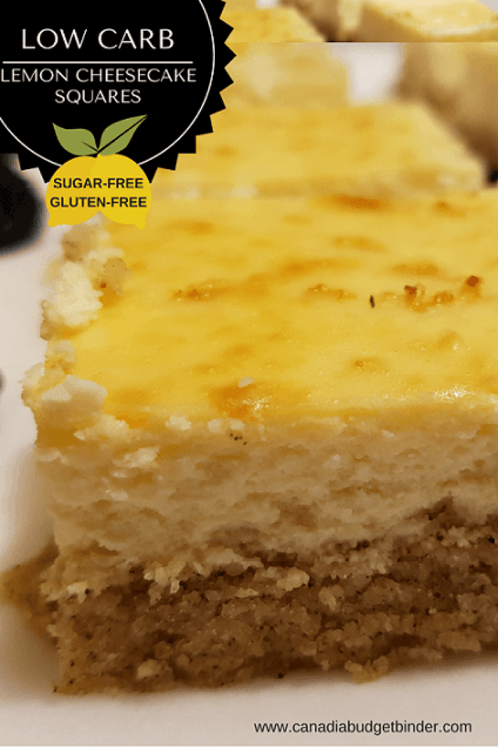 low carb lemon cheesecake squares PINTREST 3