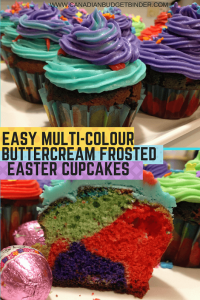 Multi-Colour Easter Cupcakes