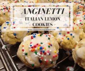 Anginetti Italian Lemon Cookies with Coloured Sprinkles