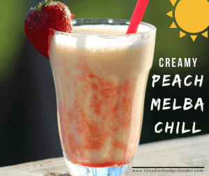 Creamy Peach Melba Chill Is A Must-Have Summer Beverage