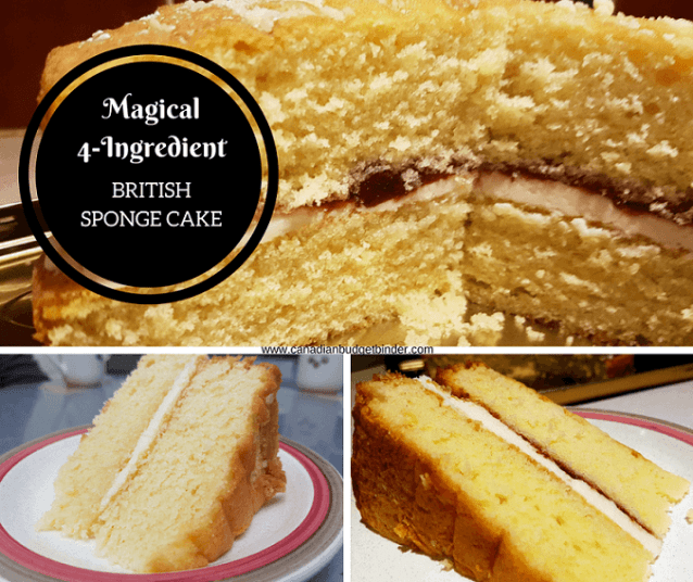 4 ingredient british sponge cake 1 FB
