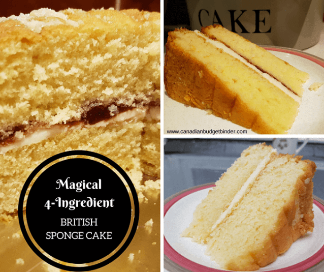 4 ingredient british sponge cake 2 FB