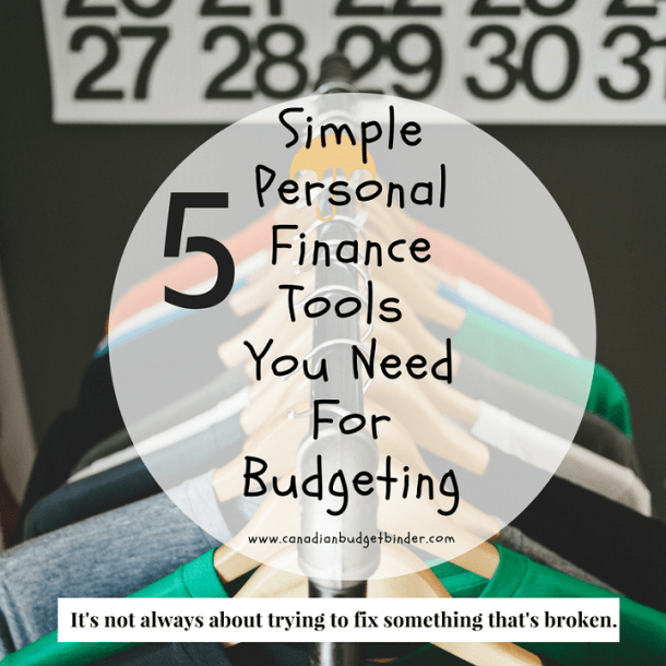 5 simple personal finance tools you need to budget