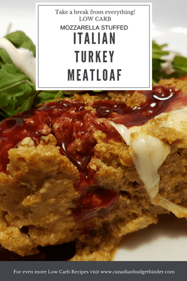 LOW CARB MOZZARELLA STUFFED ITALIAN TURKEY MEATLOAF P4